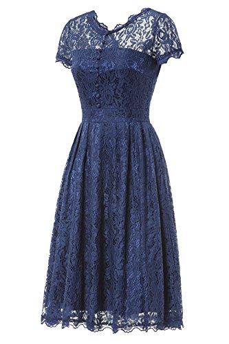 ᐅ Gigileer Elegant Damen Kleider Spitzenkleid Cocktailkleid