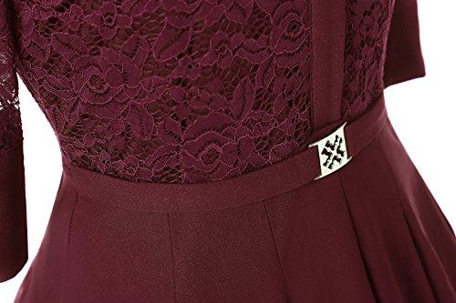 ᐅ Gigileer Elegant Damen Kleider Spitzenkleid Cocktailkleid Winter