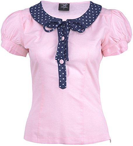 Küstenluder RUBIE Vintage Polka Dots Collar Puff Sleeve Shirt BLUSE Rockabilly