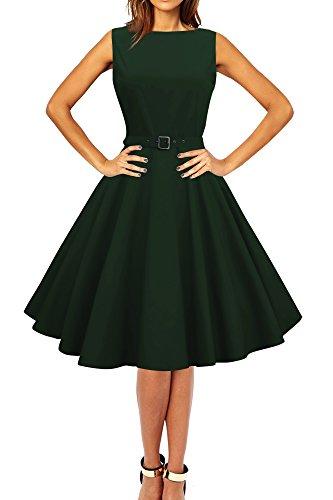 a2e215db4837d5 Black Butterfly 'Audrey' Vintage Clarity Kleid im 50er-Jahre-Stil  (Dunkelgrün