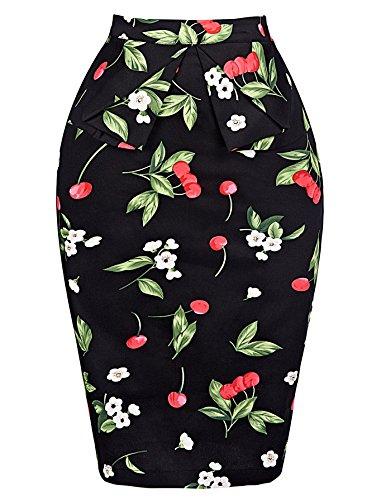 Damen Vintage Rock 50er Jahre Stil Party Dress Knielang M CL008928-4