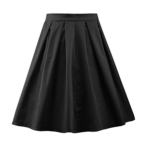 Luouse Damen Audrey Hepburn 50s Retro Vintage Bubble Skirt Rockabilly Swing Röcke