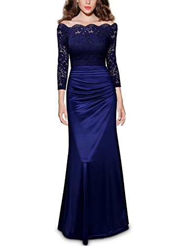 ᐅ Miusol Damen Elegant Cocktailkleid Spitzen Vintage Kleid Off ...