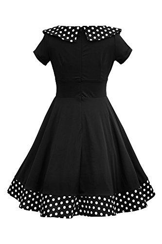 Rhianna' Vintage Polka-Dots Swingkleid - 5