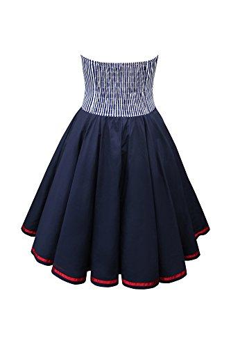 'Naomi' Vintage Marine Kleid im 50er-Jahre-Stil - 2