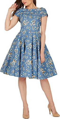 50 Jahre Stil ᐅ blackbutterfly 'serena' vintage eden kleid im 50er-jahre-stil