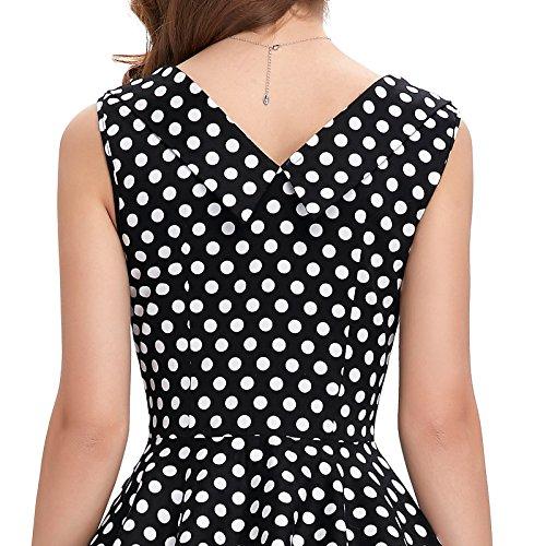 ᐅ Frauen 50s Retro A-Linie Baumwolle Partykleid Mode 1950er M ...