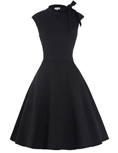 Vintage Retro Elegant Kleid Knielang Geburtstag Kleid L BP144-1
