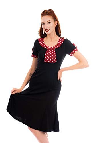 Neue Rockabilly Vintage 50er Jahre Kleid (DE 38, Schwarz)