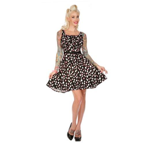 Voodoo Vixen Kleid DOTS DRA2101 black-pink-white M