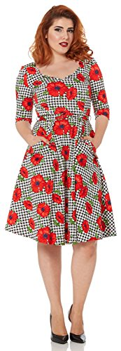 Voodoo Vixen Kleid POPPY SUZANNE DRESS 8081 Weiß XL