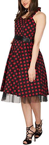 a53f28a0e5dff2 ᐅ Black Butterfly 'Rhya' Vintage Polka-Dots Kleid im 50er-Jahre ...