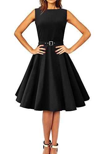 Black Butterfly 'Audrey' Vintage Clarity Kleid im 50er-Jahre-Stil (Schwarz, EUR 36 - XS)