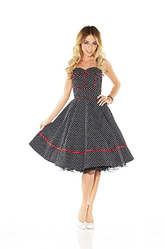 50er Jahre Rockabilly Kleid INKLUSIVE PETTICOAT Vintage Retro Polka Dot - Patsy