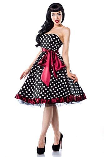 50er Jahre Rockabilly Bandeau Kleid mit breiter Schärpe