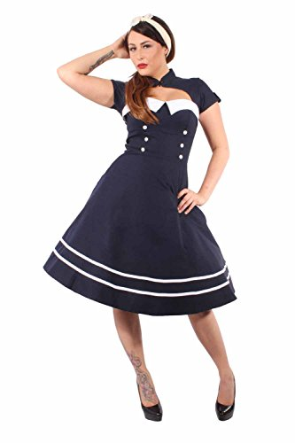 Pin Up SAILOR Retro rockabilly Bolero SWING Kleid Petticoatkleid
