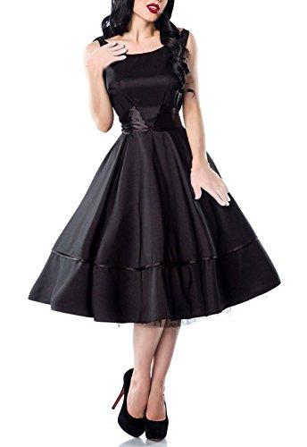 Hochwertiges 50er Jahre Rockabilly Kleid mit rückseitiger Satinschleife