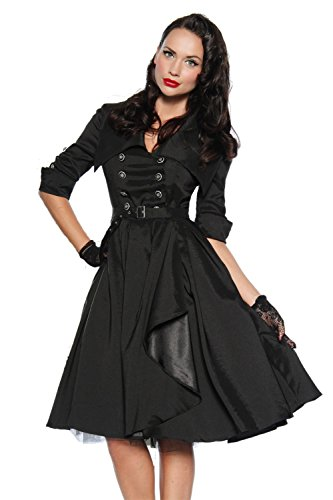 Sexy Rockabilly-Kleid mit typischem Kragen - 2