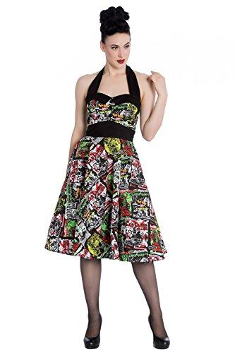 Hell Bunny London - 50er Jahre Kleid mit mit coolem Alloverprint