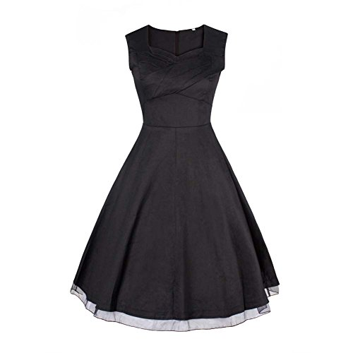 Damen Vintage Petticoat Kleid ~ 50er Jahre Kleid ~ Schwarz