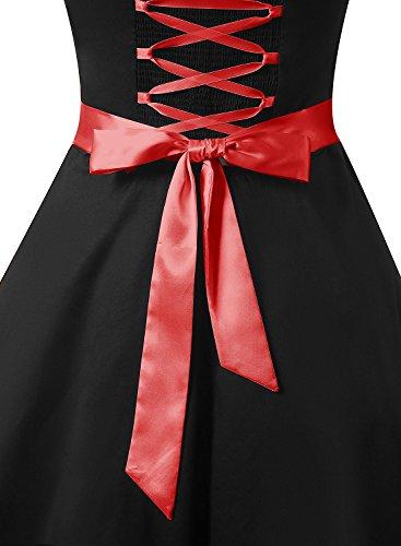 Neckholder Kleid Schwarz im Rockabilly 50er Jahre Vintage Stil - 6