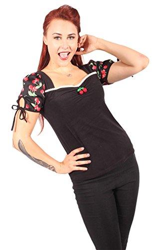 fifties rockabilly Cherry Puffärmel Kirschen Carmen T-Shirt