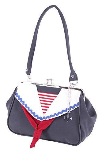 SugarShock Shaleena 50er retro Matrosen Kragen Sailor Kisslock Handtasche vintage style Tasche