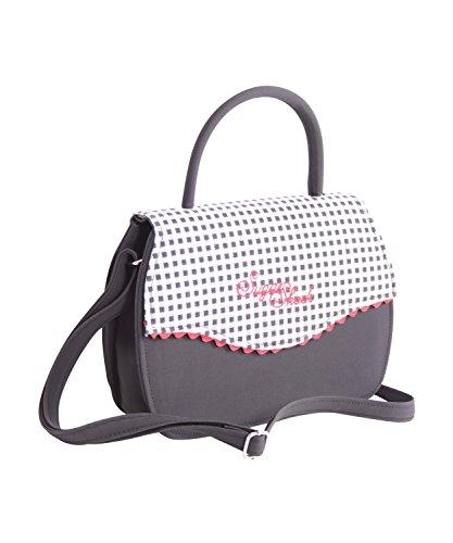 SugarShock Blanche 50s retro Tasche Rockabilly Gingham Handtasche