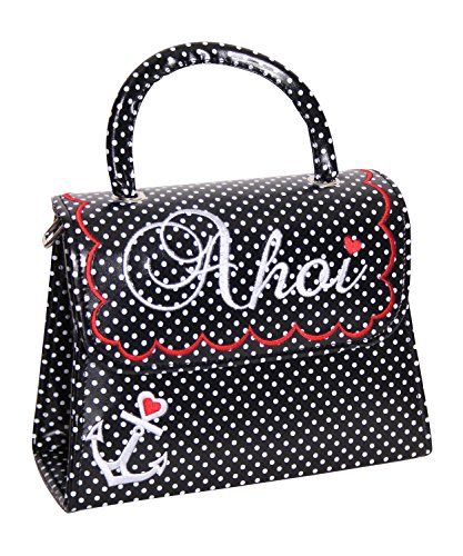 SugarShock Siska 50er retro vintage style Ahoi Polka Dots Koffer Handtasche Rockabilly Pin Up Köfferchen