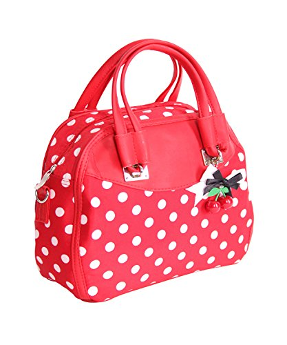 SugarShock Elsa 50s retro Polka Dots Tasche Rockabilly Handtasche