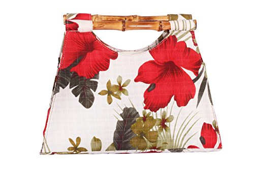 Hibiskus Hawaii Flower Hibiskusblüten Rockabilly Bambus Handtasche