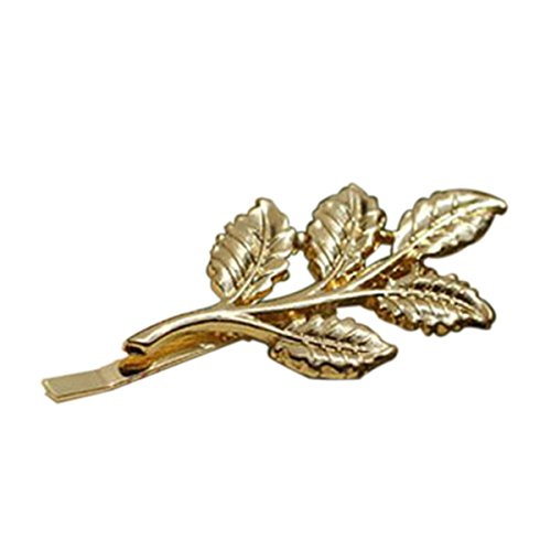 ROSENICE 10 Stück Haarspange Blatt Haarnadeln Haar Clip Haarschmuck (Golden)