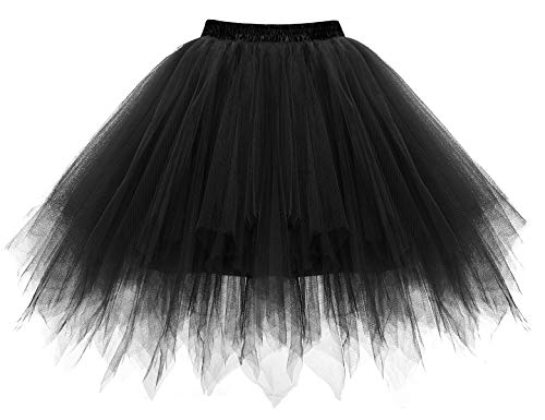 Bbonlinedress Kurz Retro Petticoat Rock Ballett Blase 50er Tutu Unterrock Black L - 2