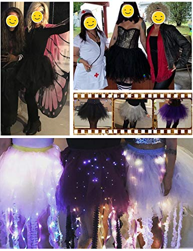 Bbonlinedress Kurz Retro Petticoat Rock Ballett Blase 50er Tutu Unterrock Black L - 5