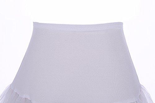 Bbonlinedress Organza 50s Vintage Rockabilly Petticoat Underskirt White S - 3