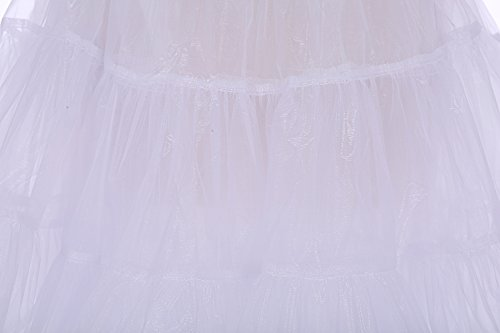 Bbonlinedress Organza 50s Vintage Rockabilly Petticoat Underskirt White S - 4