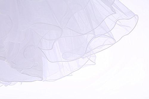 Bbonlinedress Organza 50s Vintage Rockabilly Petticoat Underskirt White S - 5