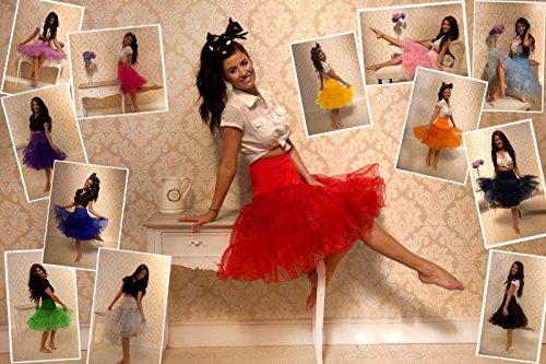 Dresstells 1950 Petticoat Reifrock Unterrock Petticoat Underskirt Crinoline für Rockabilly Kleid Navy M - 5
