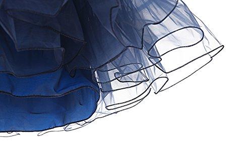 Dresstells 1950 Petticoat Reifrock Unterrock Petticoat Underskirt Crinoline für Rockabilly Kleid Navy M - 7