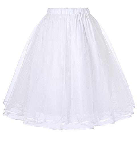 50s Vintage Petticoat Unterrock Petticoat Weiss