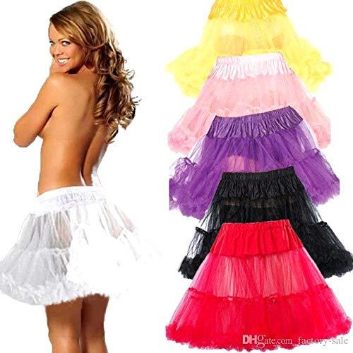 Boolavard 18″ 50s Retro Underskirt Swing-Klassiker Mini Petticoat Fancy Net Tulle Unterrock Rocke Rockabilly Tutu (L-XXL (EU 42-50), Schwarz) - 4