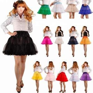 Boolavard 18″ 50s Retro Underskirt Swing-Klassiker Mini Petticoat Fancy Net Tulle Unterrock Rocke Rockabilly Tutu (L-XXL (EU 42-50), Schwarz) - 6