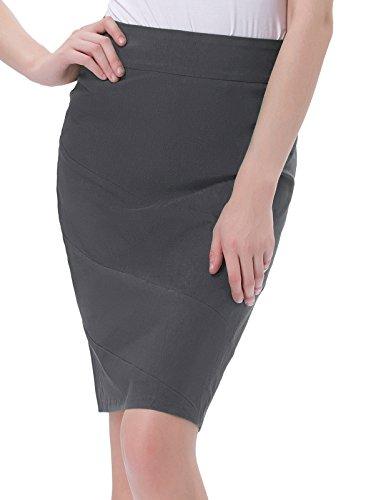 Kate Kasin® Figurbetont retro elastisch Damen Bleistiftrock Baumwolle Rock