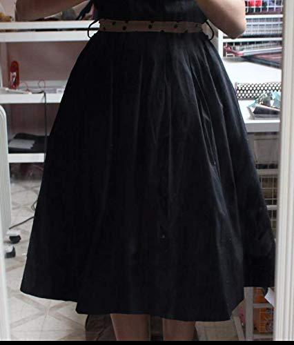 Flora 50s Vintage Rockabilly Petticoat Skirt, 25″ Length Net Underskirt (EU 42-50 (L-XXL), schwarz) - 4