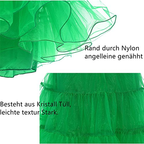 Find Dress Vintage Damen 50er Jahre Rockabilly Petticoat Wedding bridal Knielang unterrock FD10041Royal Blue L-XL -