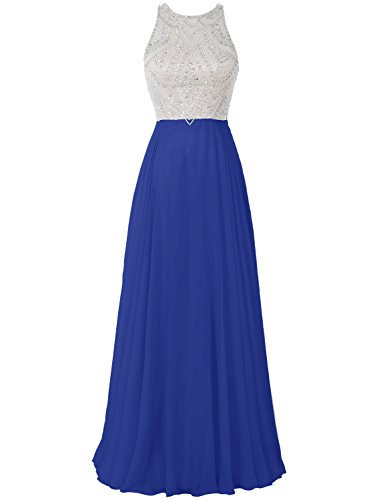 Bbonlinedress 2017 Damen Ärmellos Ballkleid Partykleid A-Linie Cocktail Abendkleid Royalblau