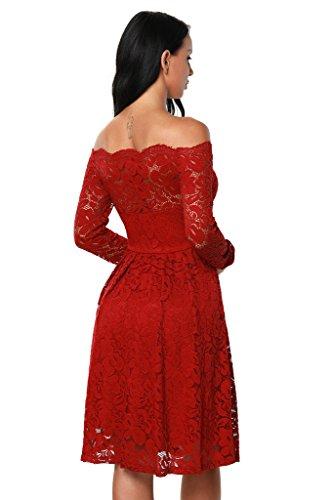 Kleid langarm rot