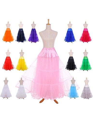 Dresstells Knöchellang Petticoat Reifrock Unterrock Underskirt Crinoline für Hochzeitskleider Rose L-XL - 2
