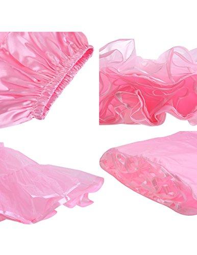 Dresstells Knöchellang Petticoat Reifrock Unterrock Underskirt Crinoline für Hochzeitskleider Rose L-XL - 3