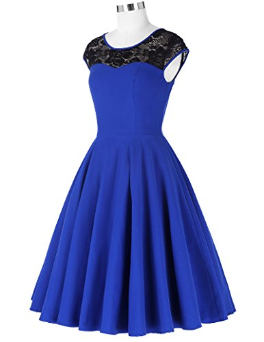 Damen festliche kleider petticoat kleid 50er jahre L BP236-2 - 5